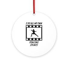 Fencing Stunts Ornament (Round)