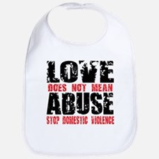 Love Does Not Mean Abuse Bib