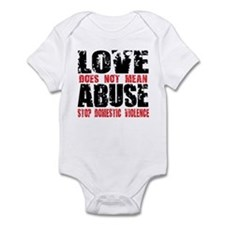 Love Does Not Mean Abuse Infant Bodysuit