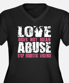 Love Does Not Mean Abuse Women's Plus Size V-Neck