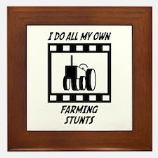 Farming Stunts Framed Tile