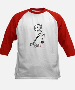 Stick Figure Basketball Kids Baseball Jersey