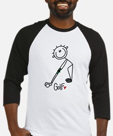 Stick Figure Basketball Baseball Jersey