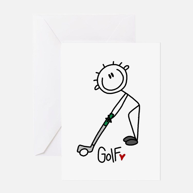 Stick Figure Basketball Greeting Card
