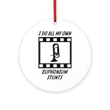Euphonium Stunts Ornament (Round)
