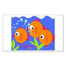 Homeschool of Fish Rectangle Decal