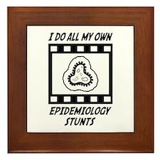 Epidemiology Stunts Framed Tile