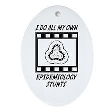 Epidemiology Stunts Oval Ornament