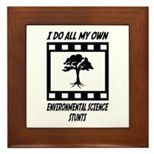 Environmental Science Stunts Framed Tile