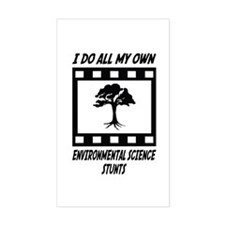 Environmental Science Stunts Rectangle Decal