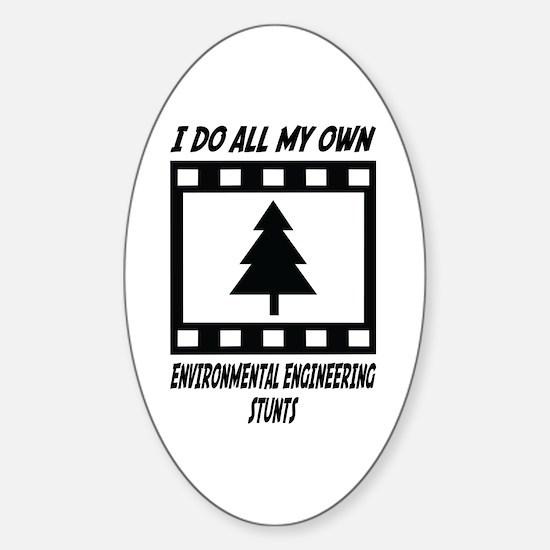 Environmental Engineering Stunts Oval Decal