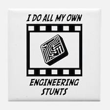Engineering Stunts Tile Coaster