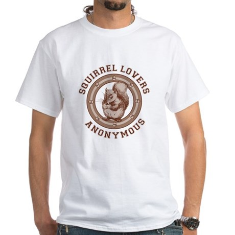 Squirrel Lovers White T-Shirt