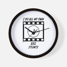 EEG Stunts Wall Clock
