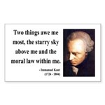 Immanuel Kant 5 Rectangle Sticker