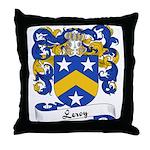 Leroy Family Crest Throw Pillow