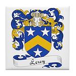Leroy Family Crest Tile Coaster
