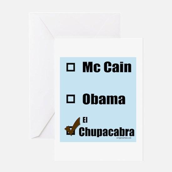 McCain,Obama,El Chupacabra Greeting Card