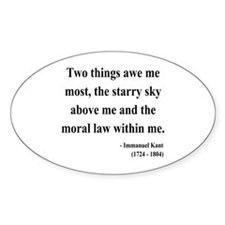 Immanuel Kant 5 Oval Decal
