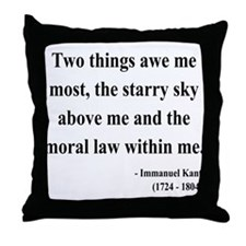 Immanuel Kant 5 Throw Pillow