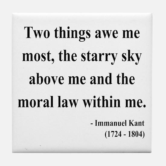 Immanuel Kant 5 Tile Coaster