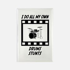 Drums Stunts Rectangle Magnet
