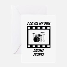 Drums Stunts Greeting Card