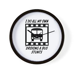 Driving a Bus Stunts Wall Clock