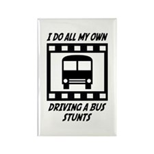Driving a Bus Stunts Rectangle Magnet (10 pack)