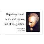 Immanuel Kant 6 Rectangle Sticker