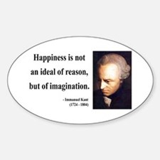 Immanuel Kant 6 Oval Decal
