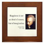 Immanuel Kant 6 Framed Tile