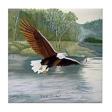 American Bald Eagle Flight Tile Coaster