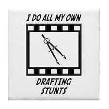Drafting Stunts Tile Coaster