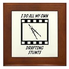Drafting Stunts Framed Tile