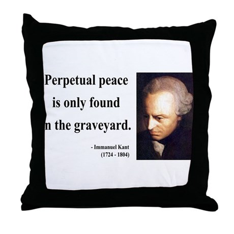 Immanuel Kant 7 Throw Pillow