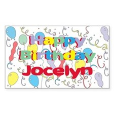 Happy Birthday Jocelyn Rectangle Decal
