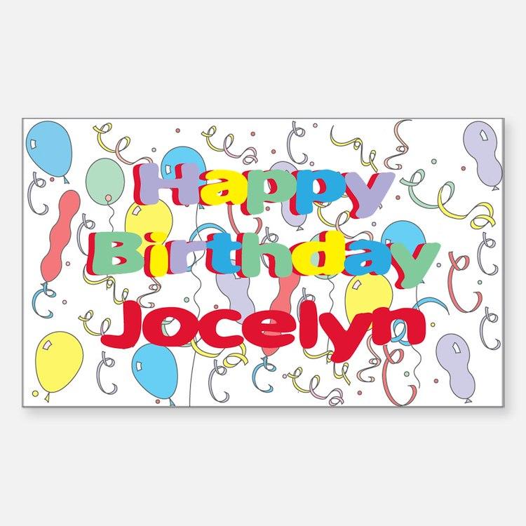 Happy Birthday Jocelyn Rectangle Decal
