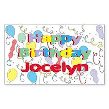 Happy Birthday Jocelyn Rectangle Stickers