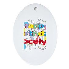 Happy Birthday Jocelyn Oval Ornament