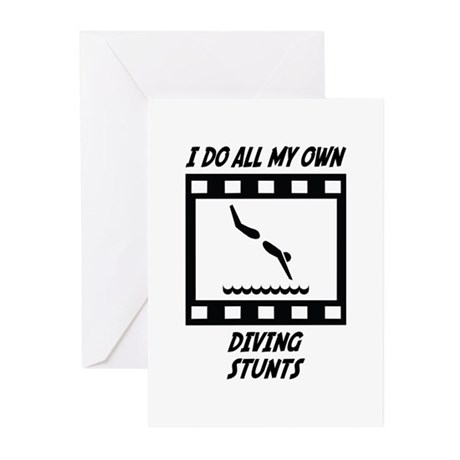 Diving Stunts Greeting Cards (Pk of 10)