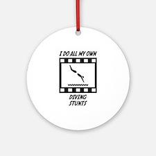 Diving Stunts Ornament (Round)