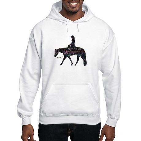 Wester Pleasure Flowers Hooded Sweatshirt
