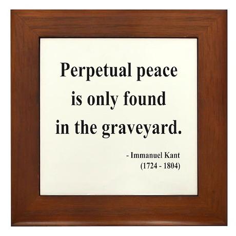 Immanuel Kant 7 Framed Tile