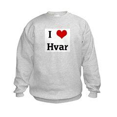 I Love Hvar Sweatshirt