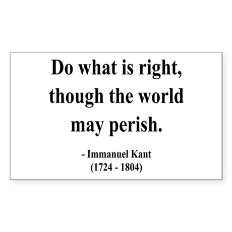 Immanuel Kant 8 Rectangle Sticker