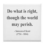 Immanuel Kant 8 Tile Coaster