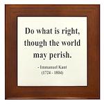 Immanuel Kant 8 Framed Tile