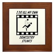 Dentistry Stunts Framed Tile