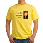 Immanuel Kant 9 Yellow T-Shirt